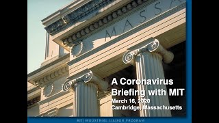 A Coronavirus Briefing with MIT
