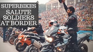 Movie on Superbike saluting soldiers. First Ever.