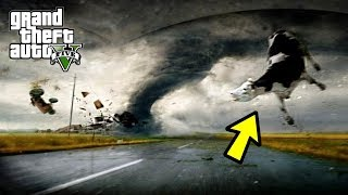 HUGE TORNADO HIT MY FARM AND CATTLE! CAN WE SURVIVE? GTA 5 END OF LOS SANTOS MOD