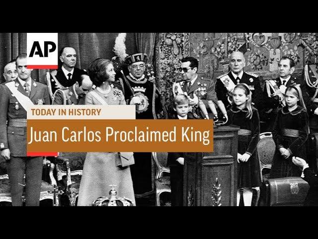 Juan Carlos Proclaimed King - 1975 | Today In History | 22 Nov 17