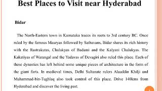 Best Places to Visit near Hyderabad | Best Tour Packages in India | Logout World