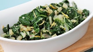 Sautéed Swiss Chard With Lemon Zest - How To Cook Swiss Chard Using Both Stems And Leaves