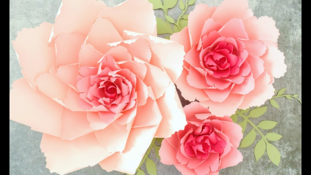 Giant paper peony flower tutorial youtube giant paper peony flower tutorial mightylinksfo