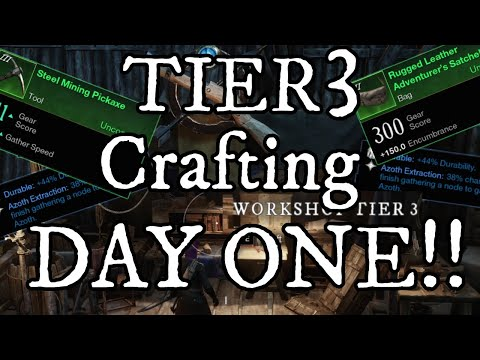 How to get TIER 3 Crafting Stations from DAY ONE of New World!