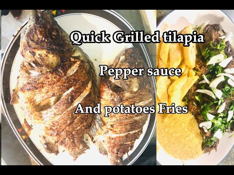 How To Grill/ Roast Tilapia Fish On Stove Top In A Pan/Cameroonian Recipe