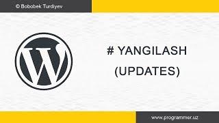 Wordpressni yangilash - Wordpress Uz