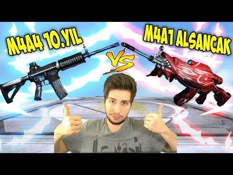 300 CANLI KARAKTERE TEK !! EM4A4 10.YIL vs EM4A1 ALSANCAK !!
