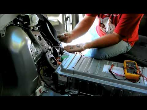 Toyota Prius battery removal and repair. replace hybrid check engine light