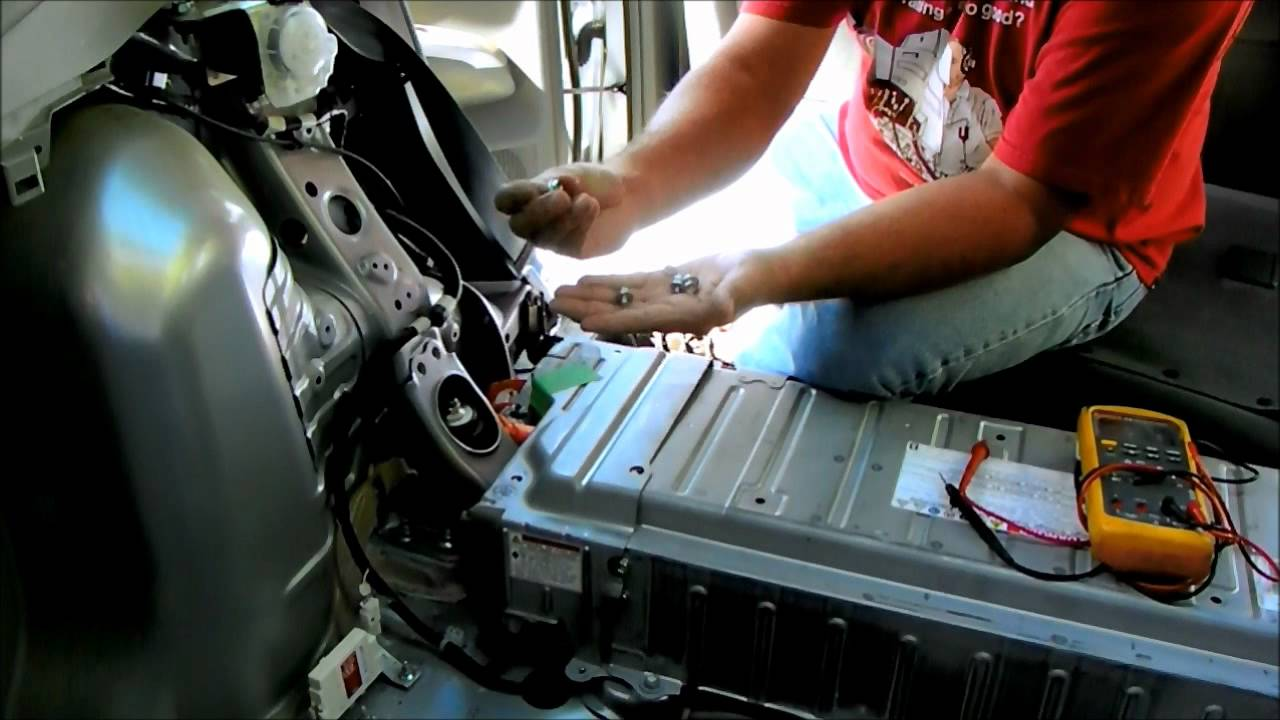 Toyota Prius battery removal and repair replace hybrid check engine light  YouTube