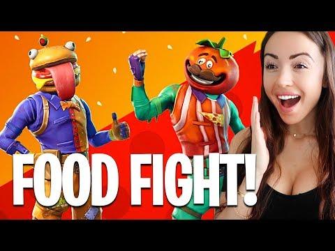 New FOOD FIGHT Game Mode! (Fortnite Battle Royale)