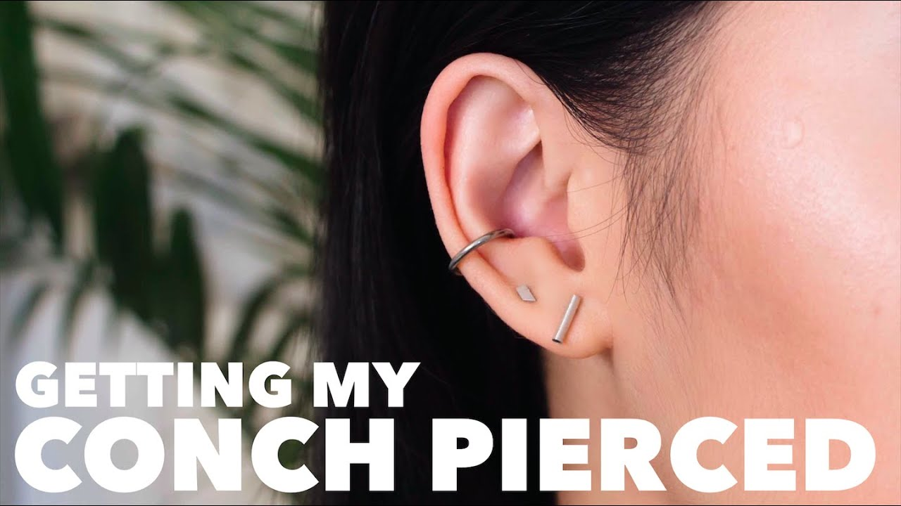 Getting My Conch Pierced Vlog Aftercare Pain Youtube