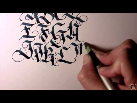Parallel Pen Calligraphy - Upper Case Blackletter