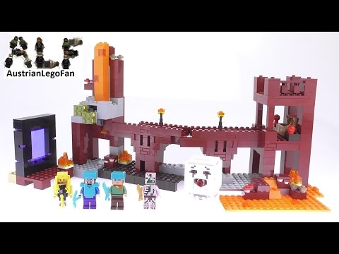 lego-minecraft-21122-the-nether-fortress---lego-speed-build-review