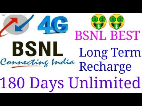 BSNL Best Long Term Validity Plan For 180 Days| BSNL New Unlimited STV