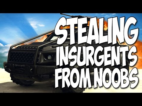 GTA Online | Stealing Insurgents From Noobs | Free HVY Insurgent