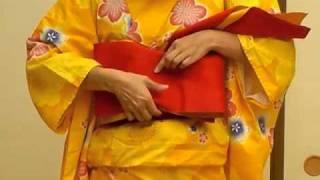 How to wear Yukata  / Tie obi belt / Flat obi belt.