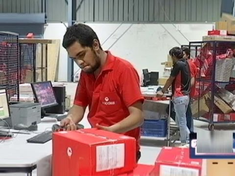 Inside An E-commerce Warehouse