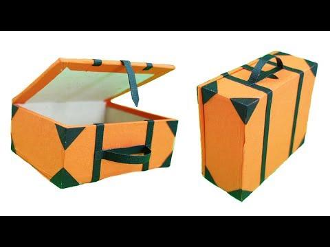 DIY Miniature Cardboard Briefcase