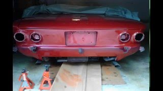 1964 Corvair Convertible Restoration, Parking Brake Cable, Speedometer Cable