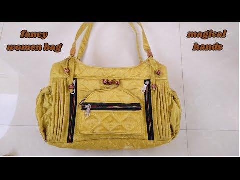 fancy handbag for women make at home diy/how to make handbag in hindi diy