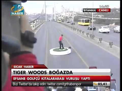 Tiger Woods ' tan ist. boğ. kıtalar ara tarihi vurus&Tiger Woods' historic shot tan intercontinental
