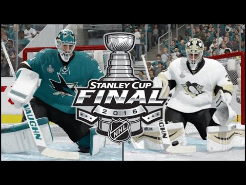 NHL 16 (Xbox One): Stanley Cup Final Game 4 Sharks vs Penguins Simulation