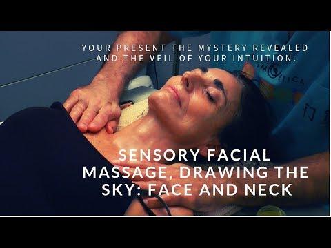 ASMR Sensory facial massage, drawing the sky: face and neck