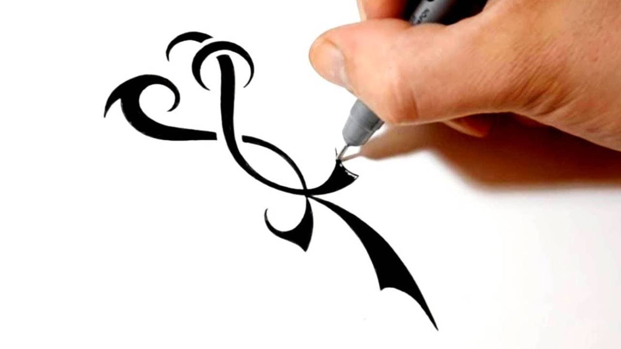 Drawing a Love Life Loyalty Tattoo Design - YouTube