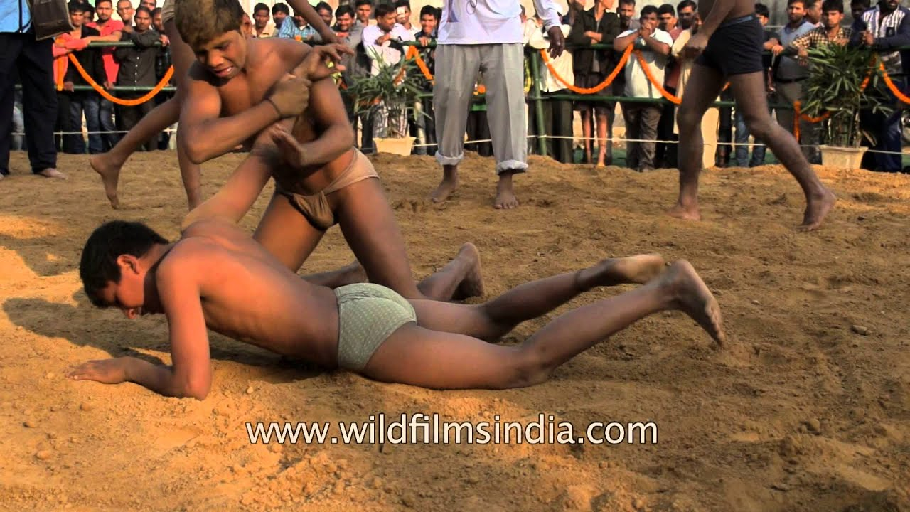 indian wrestler kids Spirited kids fight in slow motion during Phool Walon Ki Sair, Delhi by WildFilmsIndia -