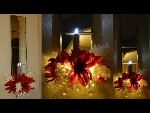 DIY Lighted Home Decor Idea| Mirrored Wall Sconces with Lighting DIY