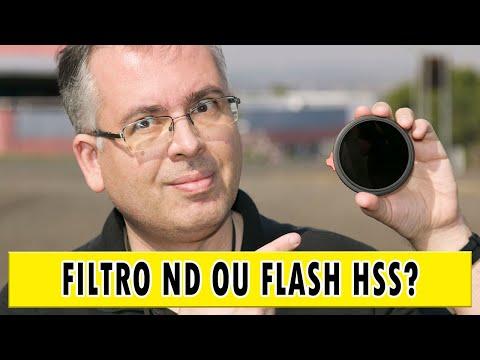 Comparativo: filtro ND vs flash HSS