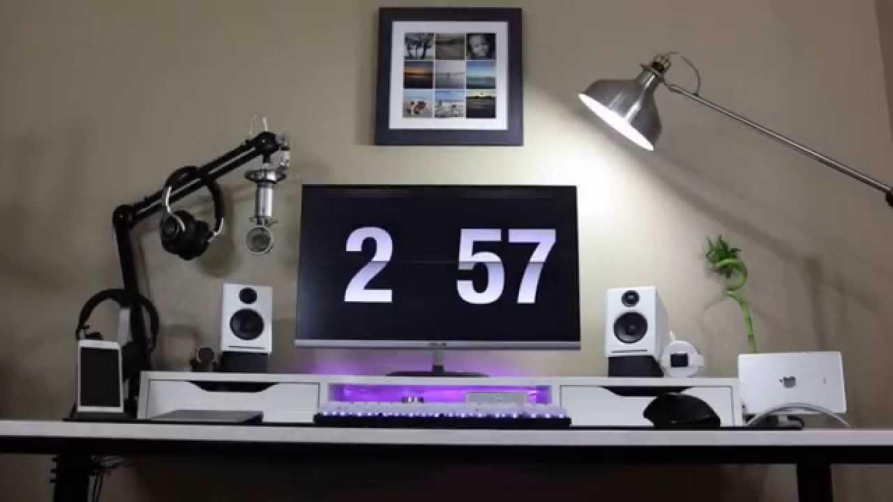 Desk Setup Tour Fall 2015 Youtube