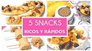 5 Snacks Ricos y Fáciles de hacer | UnaMentedeMujer por Carolina HD