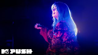 Gambar cover Billie Eilish Performs 'when the party's over' (Live Performance) | MTV Push