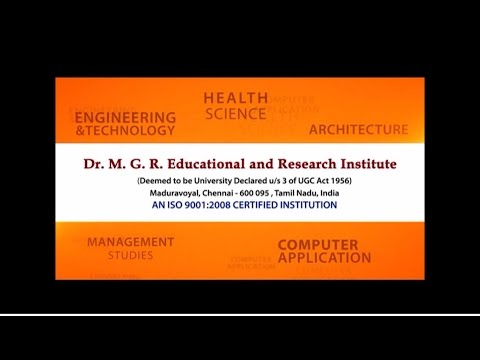 Dr M G R  Educational and Research Institute Video Profile