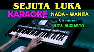 Download lagu SEJUTA LUKA - Rita Sugiarto | KARAOKE Nada Cewek / Wanita, HD