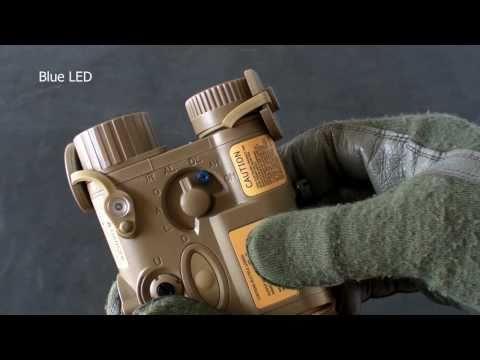 Element AN/PEQ-16A (LEDs: Q3, Blue, Infrared; Red Laser Pointer) Airsoft, Wargame, AN PEQ 16