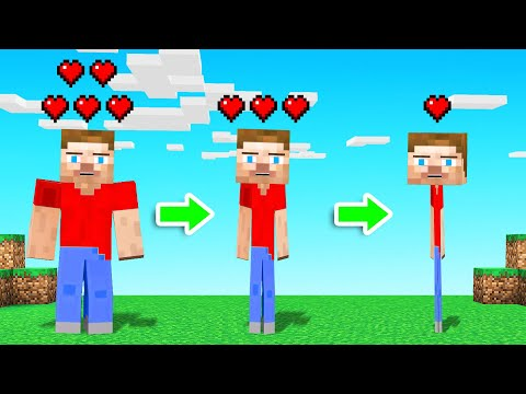 MINECRAFT But MOVING Makes You SKINNY! (stick Figure)