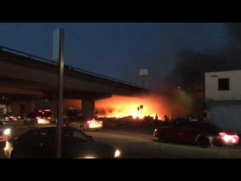 Oakland 580 Homeless Camp Fire