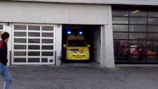 Ambulance 19-127 gaat eruit voor een spoedrit