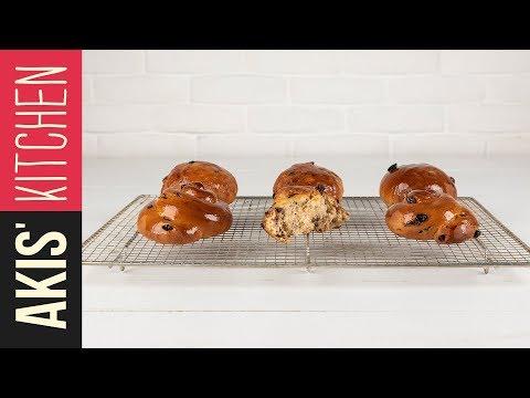 Greek cinnamon raisin breads    Akis Kitchen