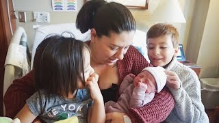 NEWBORN'S FIRST 24 HOURS OF LIFE  II SIBLINGS MEET THEIR BABY SISTER FOR THE FIRST TIME!