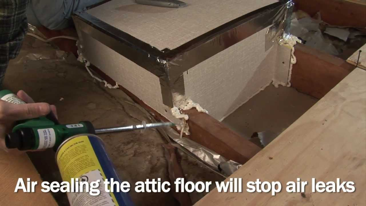 Air Sealing and Insulating a Conventional Attic  YouTube