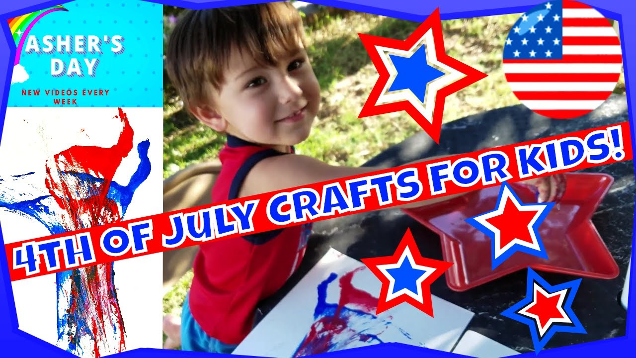 4th Of July Crafts For Toddlers Youtube
