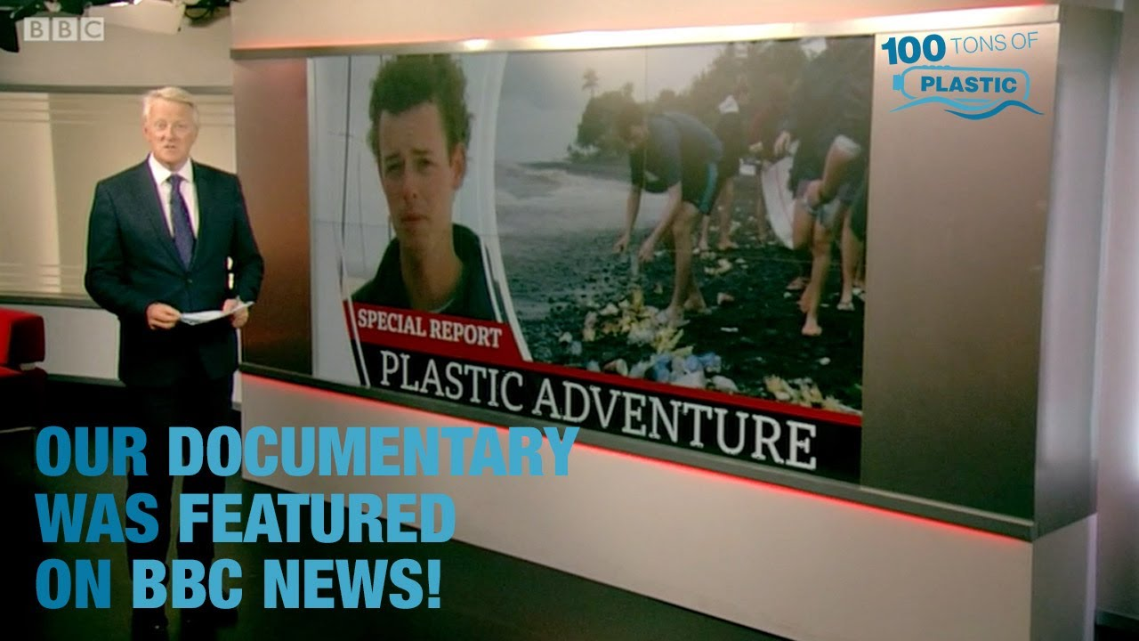 BBC News Featured 100 Tons of Plastic