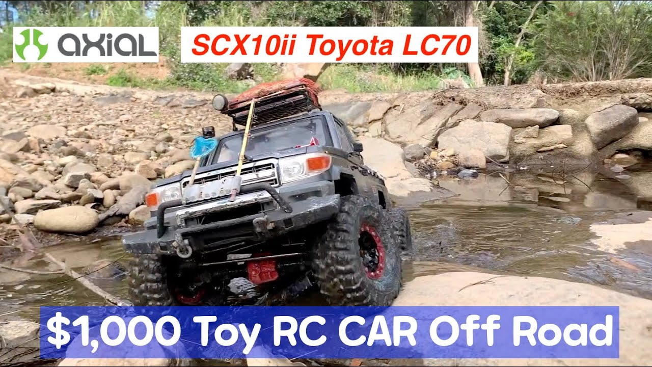 RC Toy Car Rock Crawler Axial SCX10ii Toyota LandCruiser LC70 Creek Off Road Trail #110
