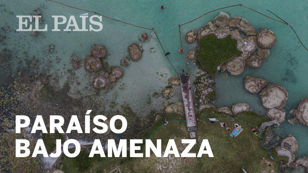 La ruina de una joya ecológica: los colores de la Laguna Bacalar se desvanecen sin protección.