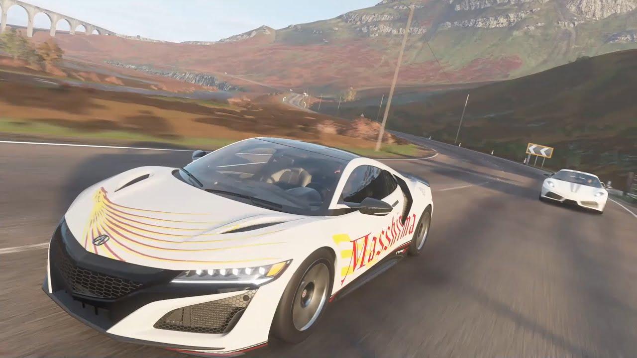 Forza Horizon 4 Game play / ACURA NSX 2017 MASSHIMA - YouTube