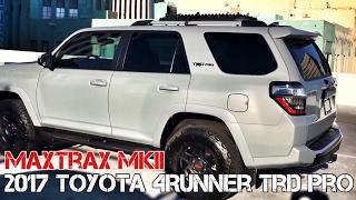 (Part10) 2017 4Runner TRD PRO Cement. MAXTRAX MKII Mount on OEM Roofrack Crossbar.
