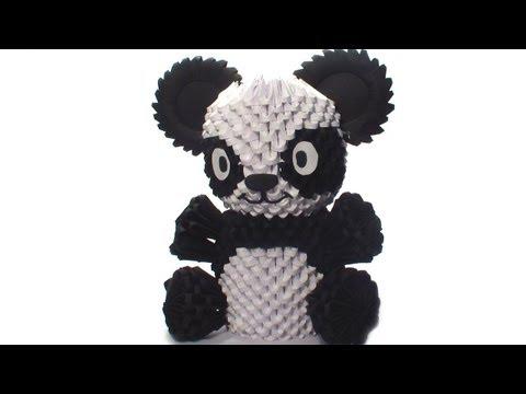 3D origami panda tutorial